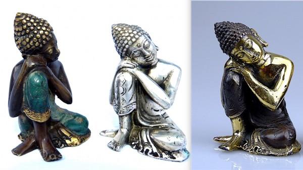 Bouddha en bronze, gisante