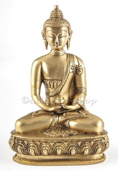 Amitabha Bouddha, laiton 20 cm