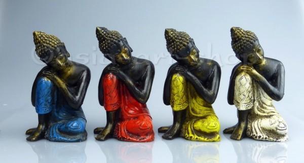 Bouddha gisante en fibre de verre 14 cm