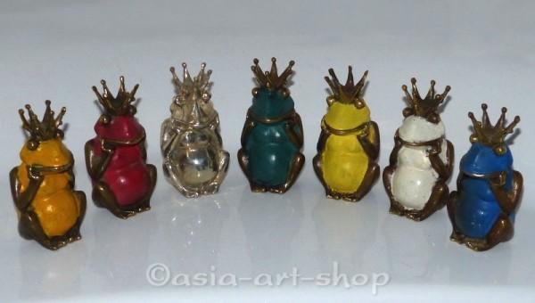 Bronze Froschkönig in 7 Farben