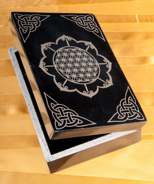 Kartenbox - Blume des Lebens im Lotus