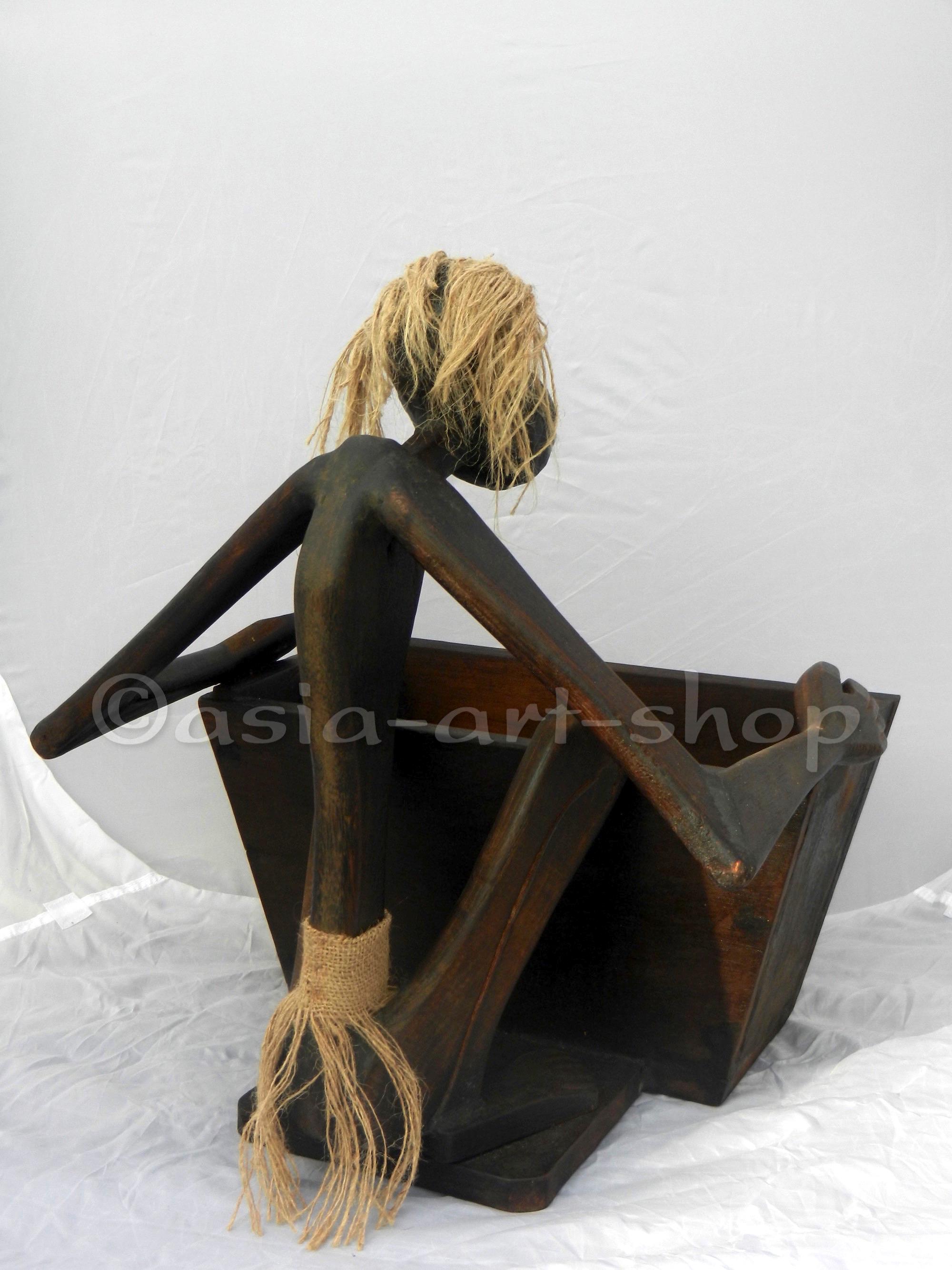 schutzgeist mit box zeitschriftenhalter asia art shop. Black Bedroom Furniture Sets. Home Design Ideas