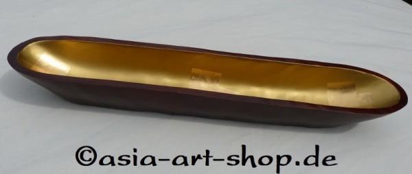 Schale aus Mangoholz mit Blattgold