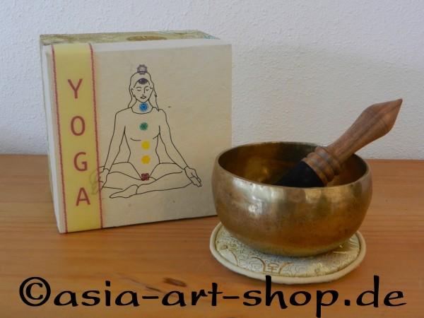 Klangschalen-Geschenkset YOGA in Chakrenbox