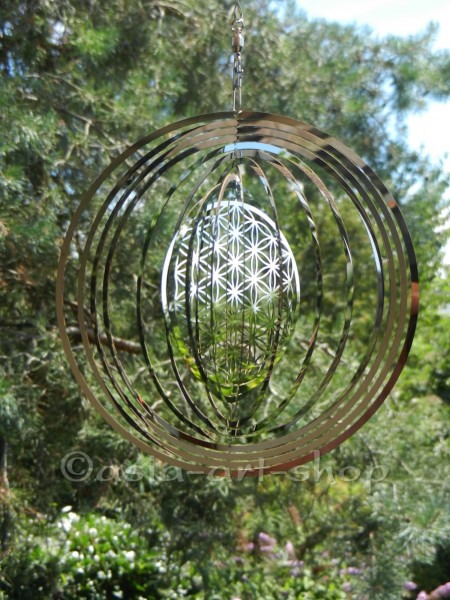 Flower of Life Mobile with crystals
