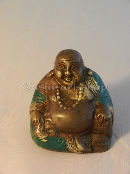 Bronze Happy Buddha - klein