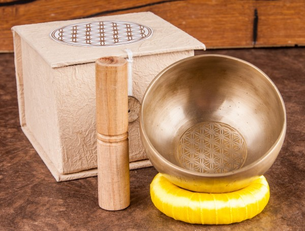 Singing Bowl- Flower of Life- in gift box