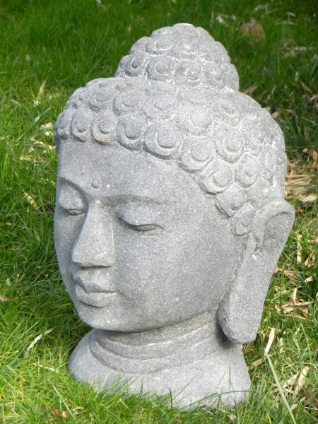 Stone Buddha head, no cast