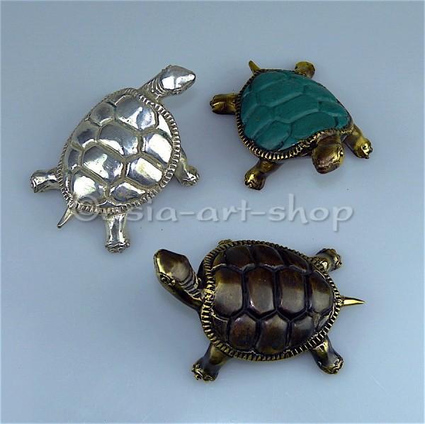 grosse Bronze Schildkröte