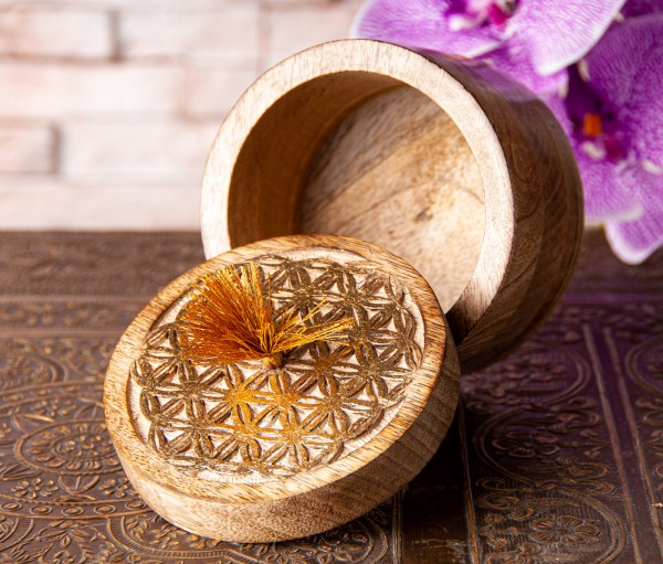 Flower of Life Box, round