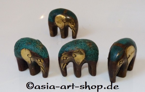 bronze mini elephant