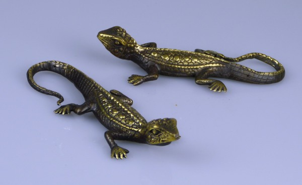 Gecko bronze gold-brown