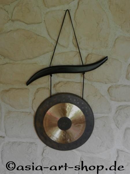 Gong mit schönem Holzaufhänger und Klöppel