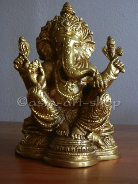 Ganesha, Messing, ca. 17 cm